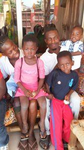 Gezin uit Ghana